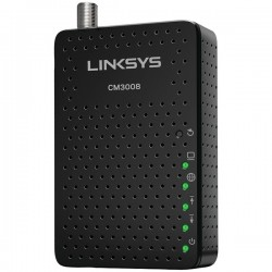 Belkin / Linksys - CM3008 - Linksys - Cable modem - Gigabit Ethernet - 343 Mbps (8 channels)