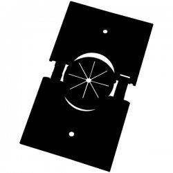 Midlite - 1GSPBK-GR10 - MIDLITE Splitport 1-Socket Faceplate - 1-Gang Splitport Plus w/Grommet - Black