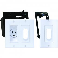 Midlite - 2A4641-1G-W - MIDLITE(R) 2A4641-1G-W Decor Recessed Receptacle Kit & Wireport(TM) with Grommet