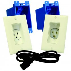 Midlite - A46-LA - A46-LA Single Gang D cor In-Wall Power Solution Kit*