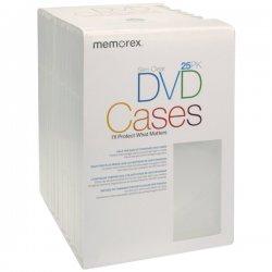 Memorex - 01985 - Memorex DVD Slim Clear Case, 25pk
