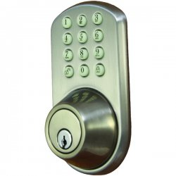 Morning Industry - HF-01SN - Morning Industry Inc. HF-01SN Touchpad Electronic Dead Bolt (Satin Nickel)