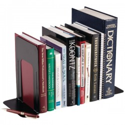 MMF Industries - 241-0091-04 - MMF 9 Steel Bookends - 9 Height x 5.9 Width x 8.2 Depth - Black - Steel - 1Pair