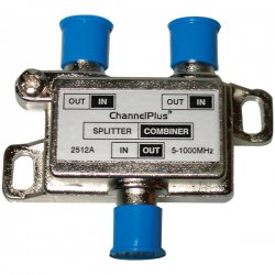 Channel Plus - 2512 - Bi-directional 2-way Splitter/Combiner Passing DC & IR with DTV Compatibility