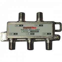 Channel Plus - 2534 - 4-Way splitter/combiner- non-IR passing