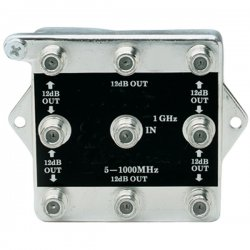 Channel Plus - 2538 - 1in 8out Rf Spltter W/ Dc Blkng