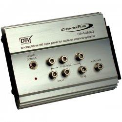 Channel Plus - DA-506BID - RF Amp w/Bi-directional CATV- 1 in X 6 out (2 short - 4 long)