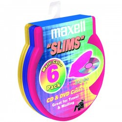 Maxell - 190082 - Maxell CD-354 Slims C-Shell Cases - Book Fold