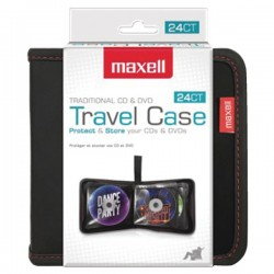 Maxell - 190161 - Cd-case24 Leather Cd Wallet Folding Cd Case For 24 Units