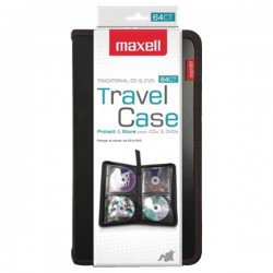 Maxell - 190162 - Cd-case64 Leather Cd Wallet Folding Cd Case For 64 Units