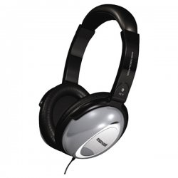 Maxell - 190400 - Maxell HP/NC-II Noise Cancellation Headphone - Stereo - Black, Gray - Mini-phone - Wired - 60 Ohm - 10 Hz 28 kHz - Nickel Plated - Over-the-head - Binaural - Ear-cup - 6 ft Cable - Yes