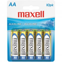 Maxell - 723410 - Maxell LR6 10BP AA-Size Battery Pack - Alkaline - 1.5V DC
