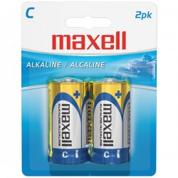 Maxell - 723320 - Maxell LR14 2BP C-Size Battery Pack - Alkaline - 1.5V DC