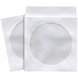 Maxell - 190133 - Maxell CD-402 CD/DVD Sleeves (100-Pack) - Sleeve - Slide Insert - White