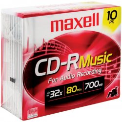 Maxell - 625133 - Maxell 40x Music CD-R Media - 700MB - 10 Pack