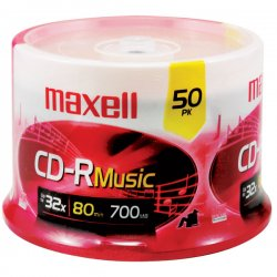 Maxell - 625156 - Maxell CD-R Media - 700MB - 50 Pack