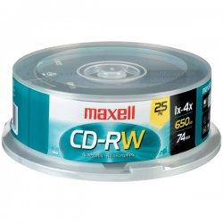 Maxell - 630026 - Maxell 4x CD-RW Media - 120mm - 1.33 Hour Maximum Recording Time