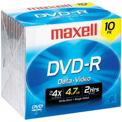 Maxell - 638004 - Maxell 16x DVD-R Media - 4.7GB - 10 Pack