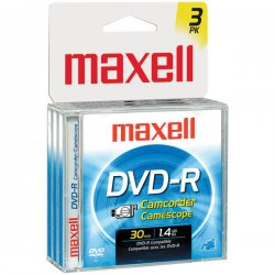 Maxell - 567622 - Maxell DVD-R Media - 80mm Mini - 30 Minute Maximum Recording Time
