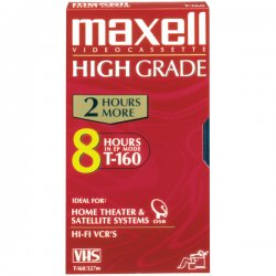 Maxell - 224510 - Maxell T-160HG VHS Videocassette - VHS - 160 Minute