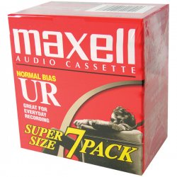 Maxell - 108575 - Maxell UR Type I Audio Cassette - 7 x 90Minute - Normal Bias