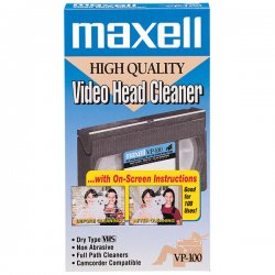Maxell - 290058 - Maxell VP-100 VHS Head Cleaner (Dry)