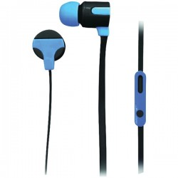 Naxa - NE-939 BLUE - Naxa(R) NE-939 BLUE ASTRA Isolation Stereo Earphones with Microphone (Blue)