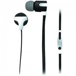 Naxa - NE-939 SILVER - Naxa(R) NE-939 SILVER ASTRA Isolation Stereo Earphones with Microphone (Silver)