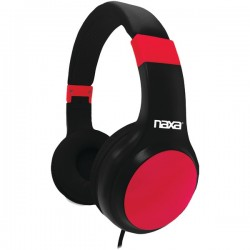 Naxa - NE-952 RED - Naxa(R) NE-952 RED ORION On-Ear Headphones with Microphone (Red)
