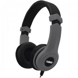 Naxa - NE-954 GRAY - Naxa(R) NE-954 GRAY Gray METRO Stereo Headphones