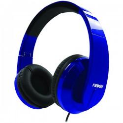Naxa - NE-955 BLUE - Naxa(R) NE-955 BLUE METRO Foldable Stereo Headphones (Blue)