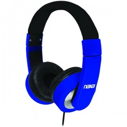 Naxa - NE-956 BLUE - Naxa(R) NE-956 BLUE BACKSPIN METRO Foldable Headphones