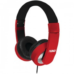 Naxa - Ne-956 Red - Naxa(r) Ne-956 Red Red Backspin Metro Headphones