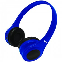 Naxa - NE962BLUE - Naxa Ne962 Blue Metro Bluetooth Wireless On Ear Headphones