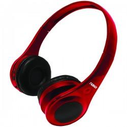 Naxa - NE962RED - Naxa Ne962 Red Metro Bluetooth Wireless On Ear Headphones