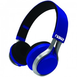 Naxa - NE-963 BLUE - Naxa(R) NE-963 BLUE METRO GO Bluetooth(R) Wireless Headphones (Blue)