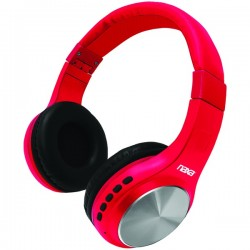 Naxa - NE964RED - Naxa Ne964 Red Orion Bluetooth Wireless Headphones