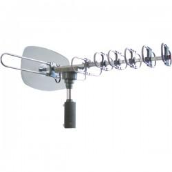 Naxa - NAA-351 - Naxa Y00-0840005008232 Antenna - Range - UHF, VHF, FM - 40 MHz, 470 MHz to 230 MHz, 862 MHz - 35 dB - HDTV Antenna, Television - Silver