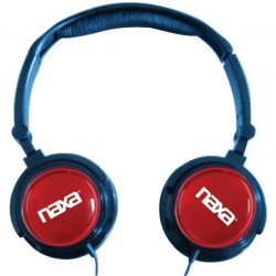 Naxa - NE926RD - Naxa 2-In-1 Combo Super Bass Stereo Headphones & Earphones - Stereo - Red - Mini-phone - Wired - Over-the-head - Binaural - Circumaural