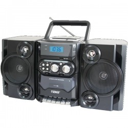 Naxa - NPB-428 - Naxa NPB-428 Mini Hi-Fi System - 5 W RMS - Black - CD Player, Cassette Recorder - 1 Disc(s) - 1 Cassette(s) - FM, AM - 2 Speaker(s) - CD-DA, MP3 - USB - Remote Control