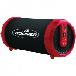 Naxa - NAS-3071 RED - Naxa(R) NAS-3071 RED BOOMER Portable Bluetooth(R) Speaker (Red)