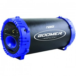 Naxa - Nas-3084 Blue - Naxa(r) Nas-3084 Blue Boomer Impulse Led Bluetooth(r) Boom Box (blue)