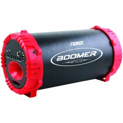 Naxa - Nas-3084 Red - Naxa(r) Nas-3084 Red Boomer Impulse Led Bluetooth(r) Boom Box (red)