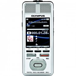 Olympus - 142585 - Olympus DM-2 4GB Digital Voice Recorder - 4 GB Flash Memory - 2.2 LCD - Headphone - 977 HourspeaceRecording Time - Portable