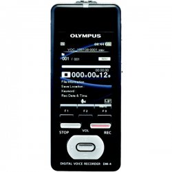 Olympus - 142590 - Olympus DM-4 8GB Digital Voice Recorder - 8 GB Flash Memory - 2.2 LCD - Headphone - 2043 HourspeaceRecording Time - Portable