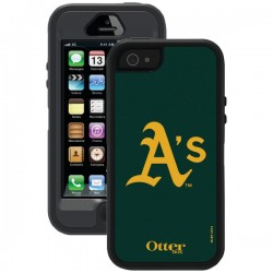 OtterBox - 77-36404 - OTTERBOX 77-36404 iPhone(R) 5/5s Defender Series(R) Case with Belt Clip Holster (MLB Oakland As)