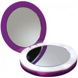 PC Treasures - 70182 - PowerNOW.(R) 70182 3, 000mAh Purple Dual Power Pack & Mirror Compact