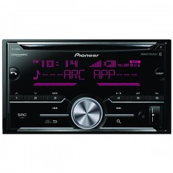 Pioneer - FH-S700BS - Pioneer(R) FH-S700BS Double-DIN In-Dash CD Receiver with Bluetooth(R) & SiriusXM(R) Ready