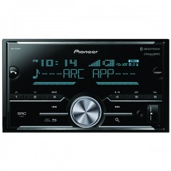Pioneer - MVH-S600BS - Pioneer(R) MVH-S600BS Double-DIN In-Dash Digital Media Receiver with Bluetooth(R), SiriusXM(R) Ready & 3 Pairs of High-Volt RCA Preamp Outputs