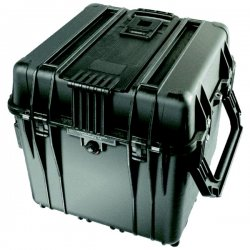 "Pelican - 0340-000-110 - Pelican 0340 Cube Case with Lid & Foam - Internal Dimensions: 18"" Width x 18"" Depth x 18"" Height - External Dimensions: 20.5"" Width x 19.3"" Depth x 20.5"" Height - Double Throw Latch Closure - Stackable - Polypropylene, Copolymer -"